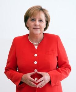 Angela Merkel mit Raute