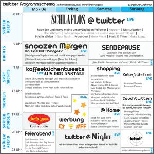 Twitter Sendeplan